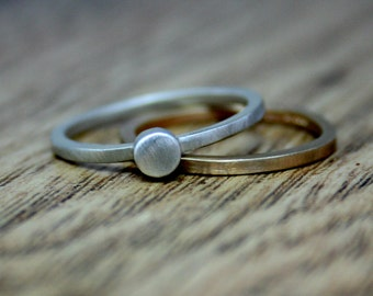Recycled Silver Alternative Engagement Ring, Ethical Jewellery, Eco-Friendly