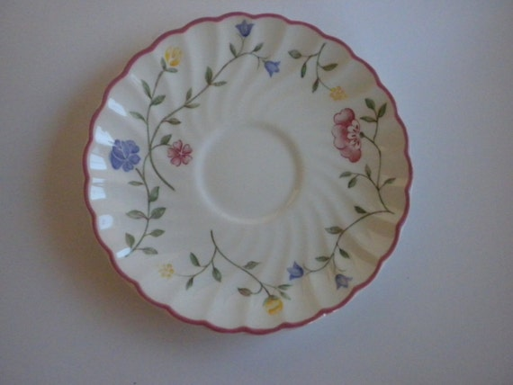 Vintage, Johnson Brothers, 4 Pretty Pink, China Saucers, Made in England