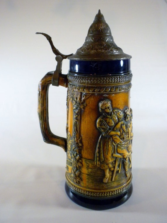 Vintage Beer Stein Gerz West Germany |Vintage West Germany Beer Steins