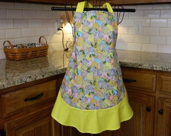 Easter Eggs with Yellow Trim Apron