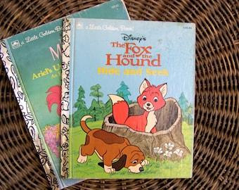 Little Golden Books,  (2) Vintage Books for Children, The Fox and The Hound (1981) The Little Mermaid: Ariel's Underwater Adventure (1989)