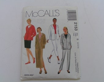 McCalls Pattern 2153 Miss Jacket Pants and Skirt both in two lengths