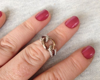 Vintage Sterling Silver Chain Link Ring