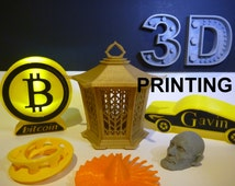 3D Printed Rapid Prototyping - 3D Printing Service - Will custom make your files: Cosplay, Invention, Thingiverse, GrabCAD, prototype