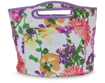 Personalized cooler - floral pattern -  picnic basket