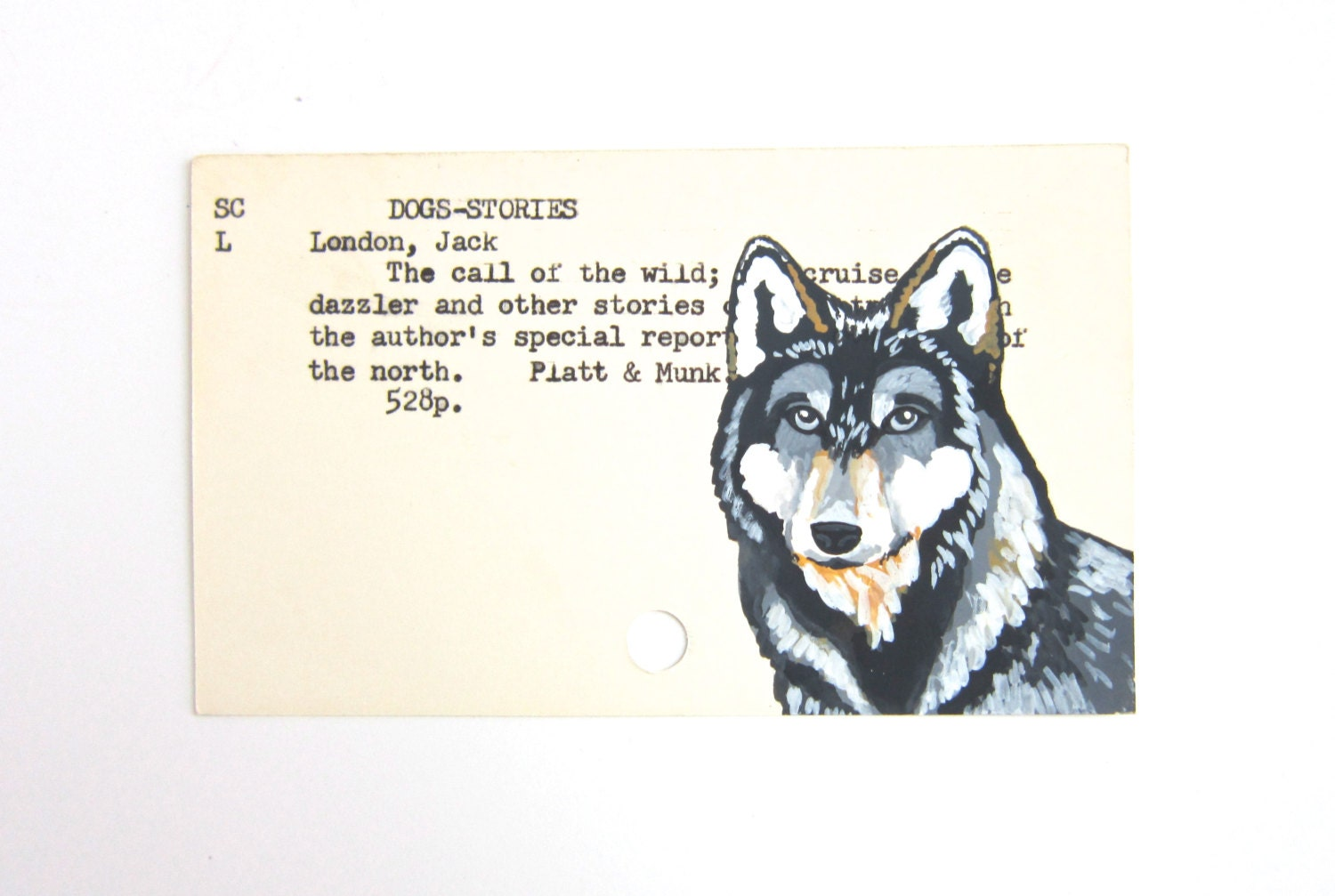 Jack London Call Of The Wild Print Of Wolf Painted On