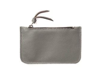 Grey Leather Credit Card Holder, Credit Card Wallet, Credit Card Case