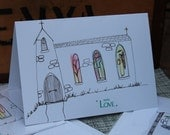 Illustrated greetings card christening/ baptism / congratulations blank inside