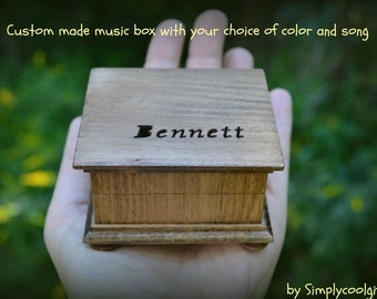 music box, wooden music box, custom made music box, customized music box, personalized music box, musical box,