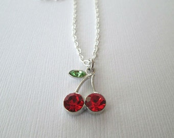 Crystal Cherry Necklace