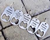 20% OFF SALE Personalized Bottle Opener Key Chain -Laser Engraved Groomsmen Gift, Wedding, Beer Lover, Custom Key Chain