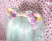 Pastel Candy Kitty Ear Fuzzy Headband