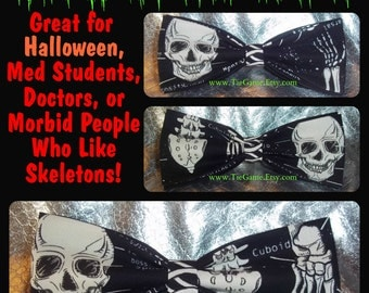 GLOW In The DARK Bow Ties - So Spooky and Fun - This BowTie is Perfect for a Halloween Get-Together - U.S.Shipping ONLY 1.99
