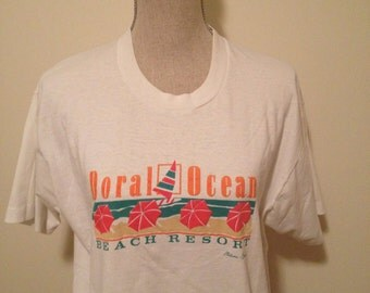 Sale! Vintage Miami Beach Florida Tshirt