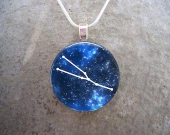 Taurus Constellation Jewelry - Glass Pendant Necklace - Astronomy