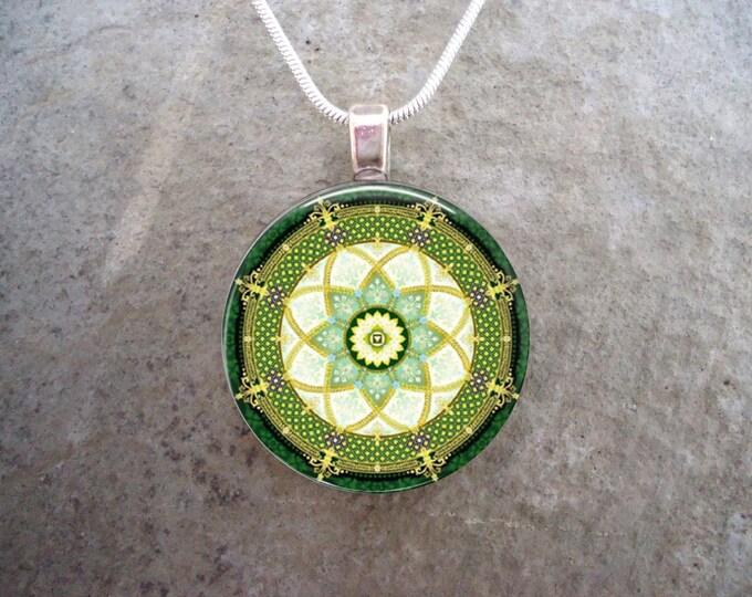 Mandala Jewelry - Glass Pendant Necklace - mandala 16 - RETIRING 2017