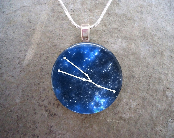 Taurus Constellation Jewelry - Glass Pendant Necklace - Astronomy