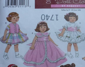 """Simplicity Archives Dolls Clothes Pattern 3574   Wardrobe for 8"""" Dolls"""
