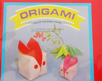 Origami Paper - 100 Sheets of 7 inch mixed solids origami paper - Large origami paper
