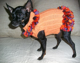 Dress for dogs-Dog Sweater-Chihuahua Dress-Dog Fashion-Dog Clothes-Size XS