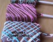 Rice Krispie Treats covered in chocolate - Kids party favors - Valentine's favors -