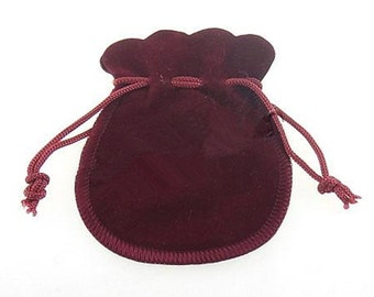 8 RED 3.5x3inch velvet small gift bag pouches-S3