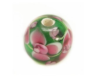 4pc 12mm handmade fancy flower lampwork glass beads-6743