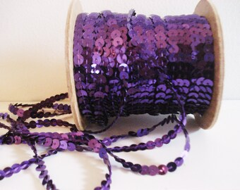 Buy One Get One Free - Vintage Purple Sequins - Sequins By The Yard -  3 Yards Purple Iridescent Sequins - Sewing Embellishments