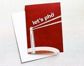 NAUGHTY LOVE CARD — Let's Pho, Little Blank Card, Funny, Valentine's Day, Noodles