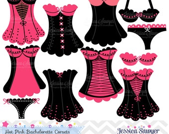 INSTANT DOWNLOAD,  bachelorette party clipart, bridal shower clip art,  lingerie clipart, for commercial use or personal use