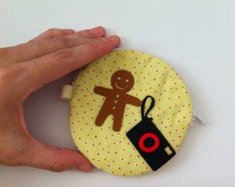 Gingerbŕead camera Zipper Pouch / Purse