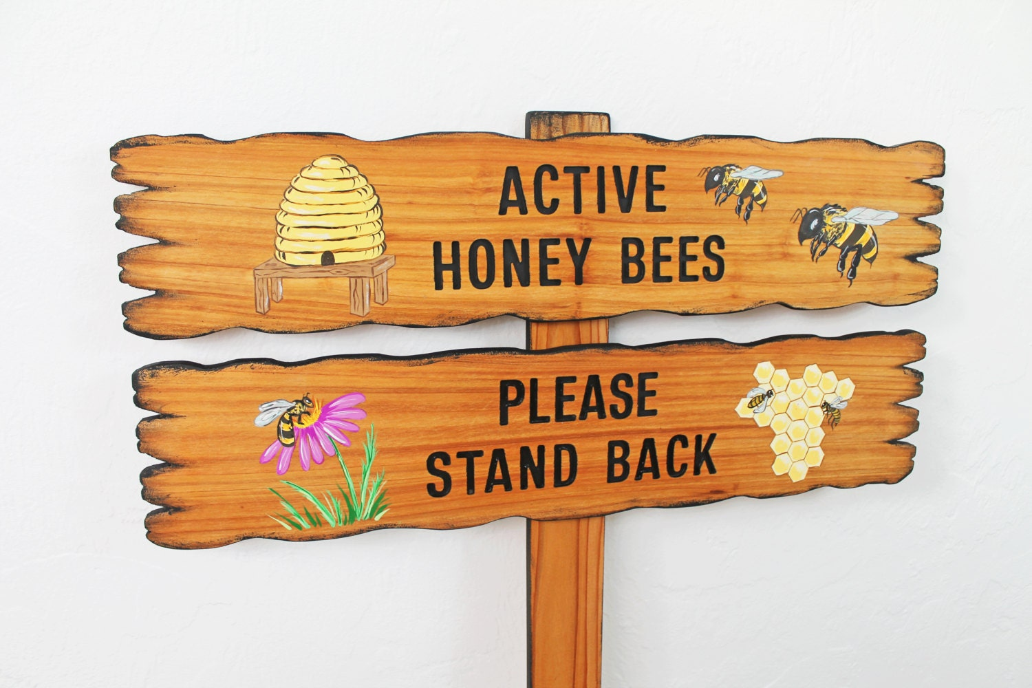 Bee Hive Sign Caution Active Bees Please Stand By