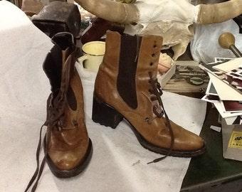 Vintage Mariagraziaripari Lace Up Boots