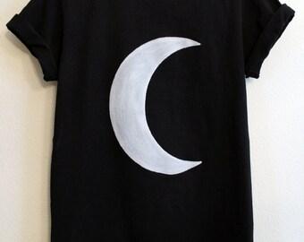 Black crescent moon shirt