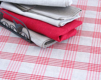Linen Tablecloth / Striped / Chequered / Country