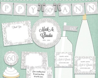 60th anniversary d.i.y. printable party