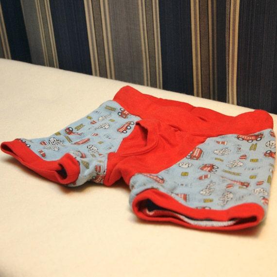 Little boys boxer briefs boys fire truck underwear little