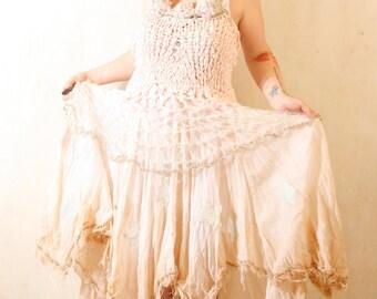 Handmade wedding dress Alternative Wedding dress Maxi dress wedding Bohemian wedding  Bridal gown Ready to ship wedding dress Bohemian dress