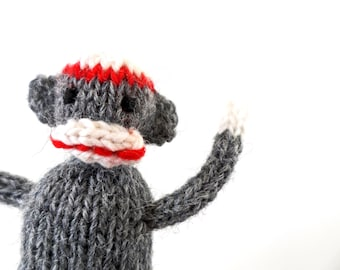 SALE Wee Mites™ Teeny Tiny Classic Grey Sock Monkey