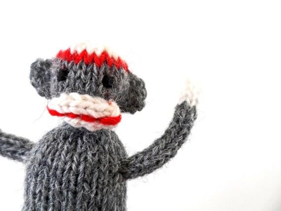 SALE Wee Mites™ Teeny Tiny Classic Grey Sock Monkey