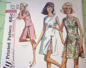 Simplicity 6013 Playdress and Shorts 1960s