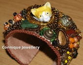Funky Fox Bead Embroidered Bracelet