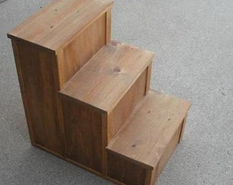 """24"""" Wood Dog 3 Step WOOD STEPS Choice Of Stain Color"""