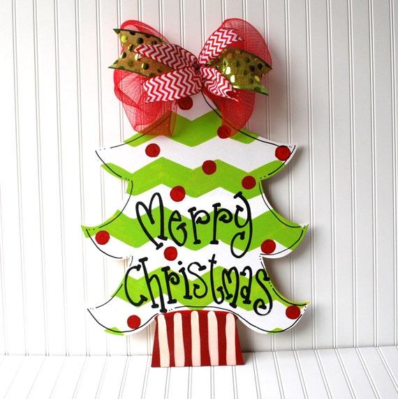 Christmas Decor Christmas Tree Door Hanger Christmas Wreath