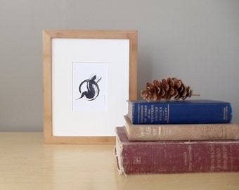 SALE // 20% off // shelter ink painting // matted print