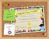 Elementary School Teacher Certificate Diploma Classroom - Digital File
