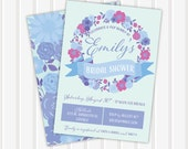Floral Wreath Bridal Shower Invite | 5x7 | Double Sided