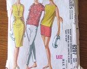 1961 vintage sewing pattern Sports separates, overblouse,scarf,skirt,pants, easy to sew McCalls 6207- 34 inch bust