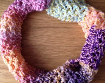 Bright Lacy Hand Knitted Cowl