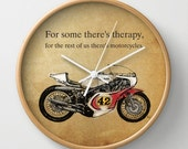 Yamaha Handmade drawing | WALL CLOCK for bikers | Inspirational quote